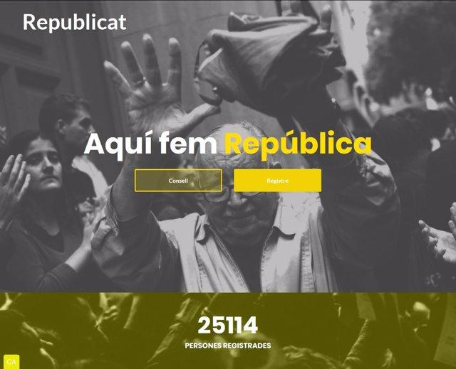 Página web del Consell per la República