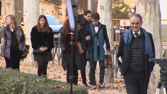 Mario Conde a su llega a la Audiencia Nacional para declarar por blanqueo