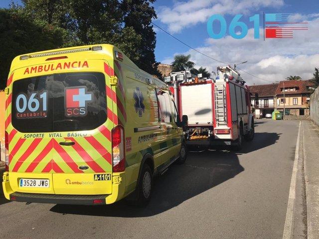 Servicios de emergencias en Los Corrales de Buelna