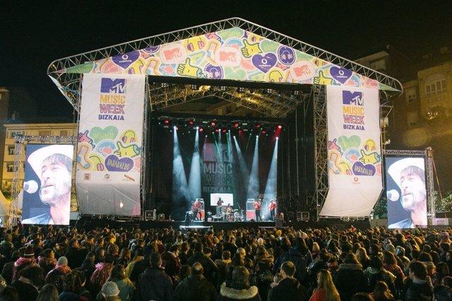 Concierto de la MTV Week en Barakaldo