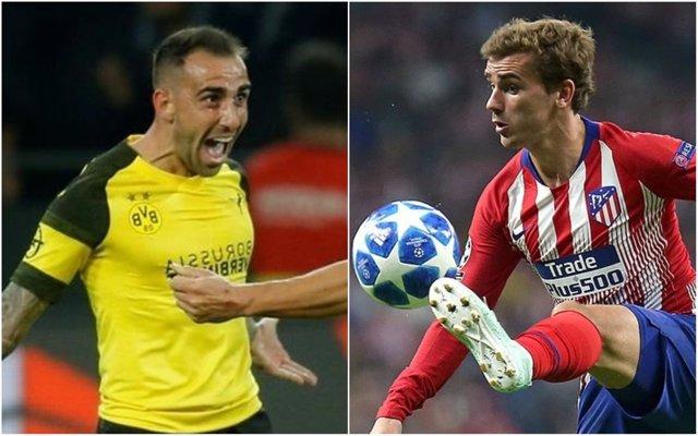 Alcácer (Borussia Dortmund) y Griezmann (Atlético Madrid)