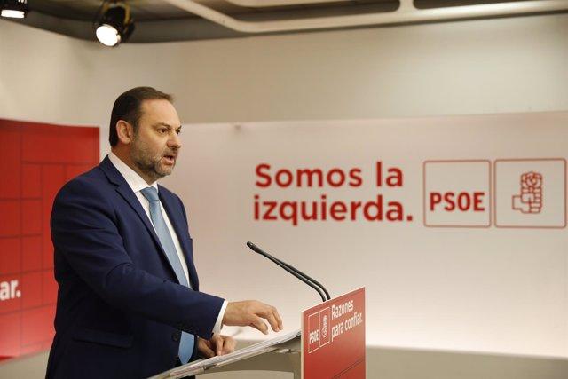 El secretario de Área de Organización, José Luis Ábalos