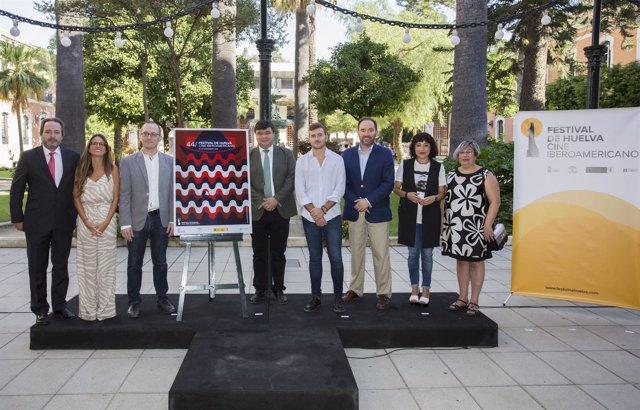 Presentación del cartel del Festival de Cine Iberoamericano de Huelva 2018.