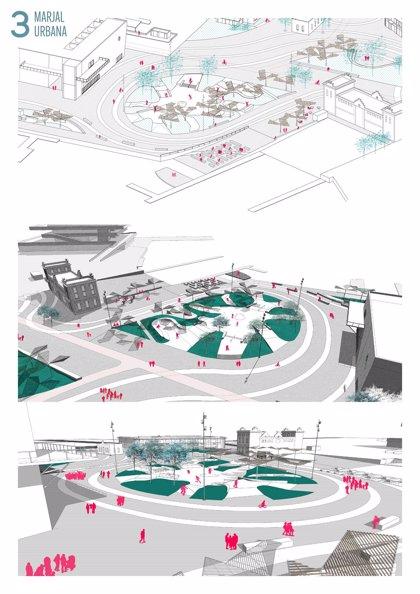 """La pista de patinaje de La Marina de València será un espacio """"singular"""" con zonas verdes, quiosco, auditorio y mirador"""
