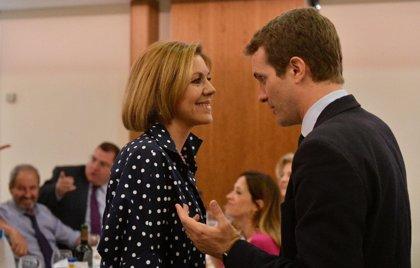 Casado evita comentar la decisión de Cospedal de mantener su escaño, que genera división de opiniones entre cargos de PP