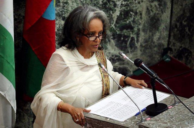La presidenta de Etiopía, Sahlework Zewde