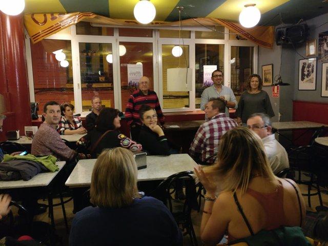 Presentación Sumamos por La Rioja y por Logroño con Garrido, Castro y Calzada