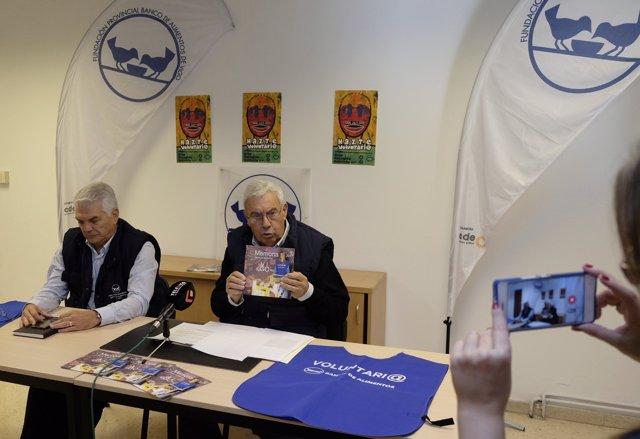 Pedro Pereira e Iván Martínez, presidente y vicepresidente Banco Alimentos Vigo.