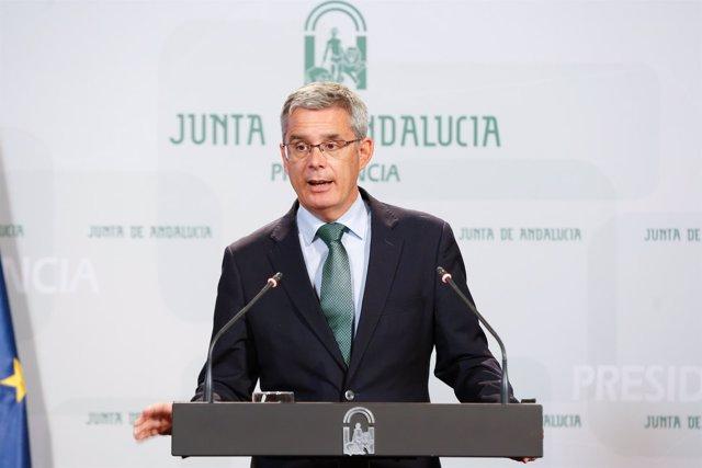 El portavoz del Gobierno, Juan Carlos Blanco