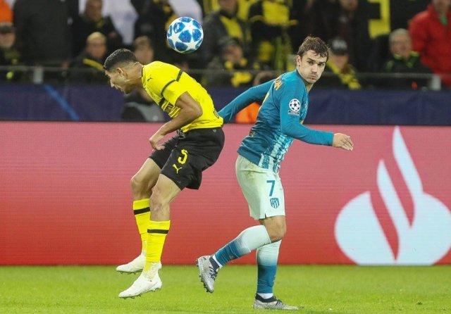 Antoine Griezmann Achraf Hakimi Atlético Borussia Dortmund