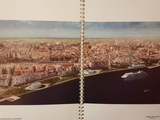 Imagen que ha mostrado Revilla en el Pleno de cómo quedará el frente marítimo