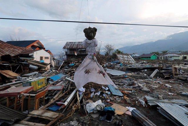 Daños por el terremoto y el tsunami en Palu, en la isla indonesia de Célebes