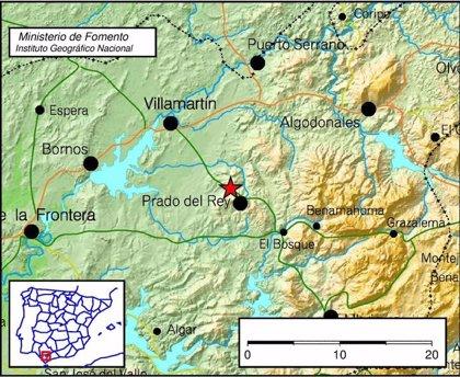 Registrado un terremoto de magnitud 3,1 al noroeste de Prado del Rey (Cádiz)
