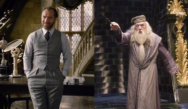 Albus Dumbledore en sus dos versiones
