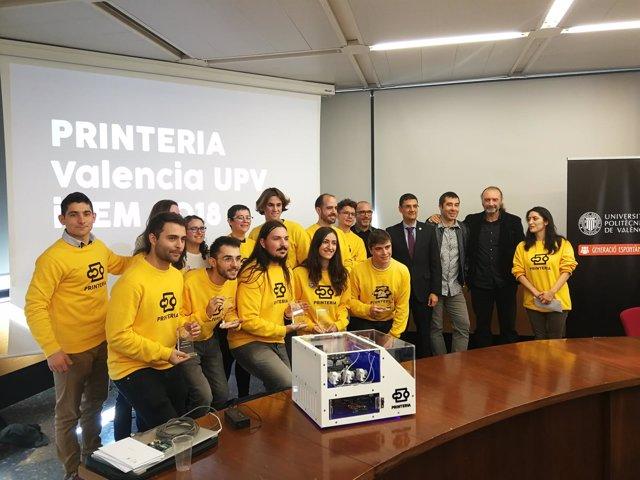 Los estudiantes del equipo iGEM de la UPV muestran Printeria