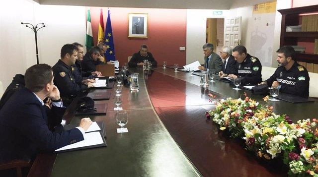 Reunión del dispositivo de Seguridad para el partido Betis-Milán