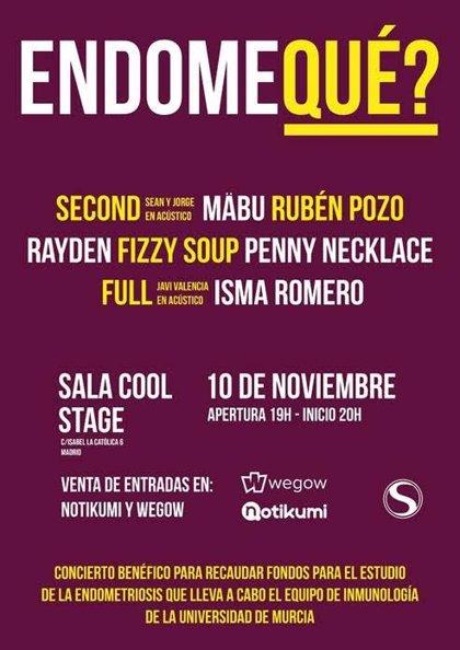 Numerosos artistas se unen en 'Endoqué?', un concierto que recaudará fondos para investigar contra la endometriosis