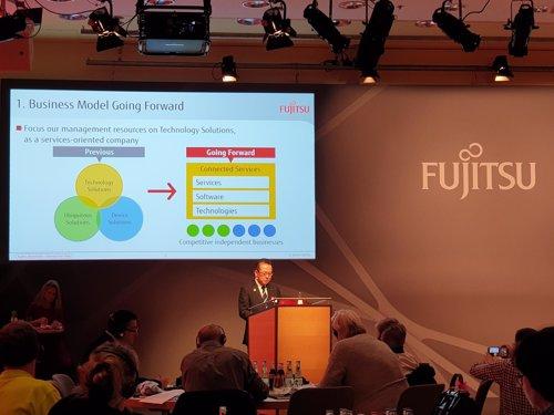 El presidente de Fujitsu, Tatsumo Tanaka, en Fujitsu Forum 2018
