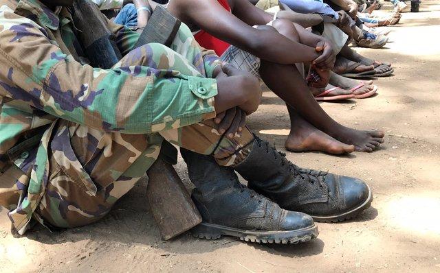 Antiguos niños soldado en Sudán del Sur