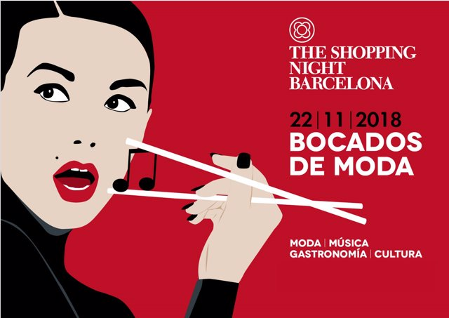 Cartell de The Shopping Night Barcelona 2018