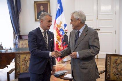Urkullu invita al presidente de Chile a visitar Euskadi el próximo año y se comprometen a seguir estrechando lazos