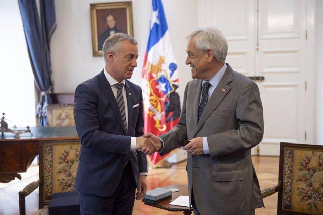 Urkullu y el presidente de Chile