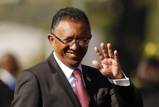 El presidente de Madagascar Hery Rajaonarimampianina