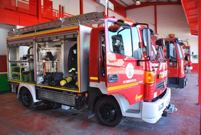 Vehículo de bomberos de la Diputación de Sevilla