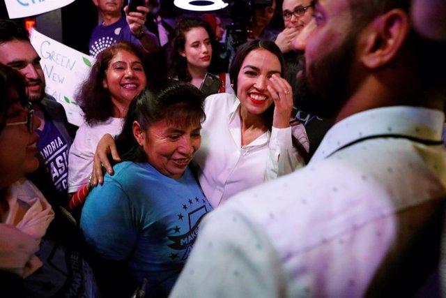 Alexandria Ocasio-Cortez, elegida congresista demócrata en Nueva York