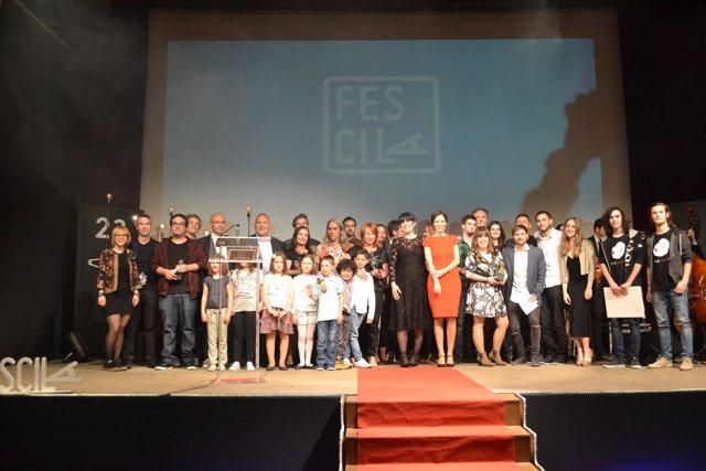 Imagen de archivo de la gala de clausura del FesciLA en 2018