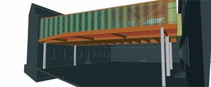 A finales de diciembre estará concluida la obra para cubrir parcialmente el patio del colegio San Francisco