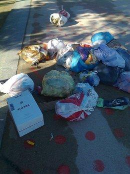 Huelga de basura en Madrid Río