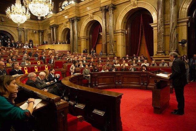 Quim Torra comparece en el pleno del Parlament