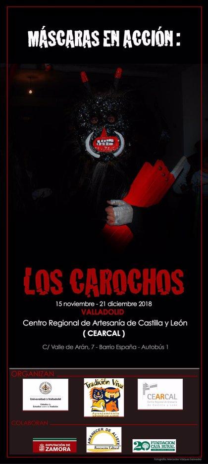 La muestra 'Los Carochos' expone su vestuario, imágenes y simbología en Cearcal
