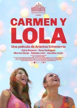 """Cartel de la cinta """"Carmen y Lola"""" en FancineGay"""