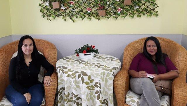 Inmigrantes venezolanas en centro de Cáritas para mujeres