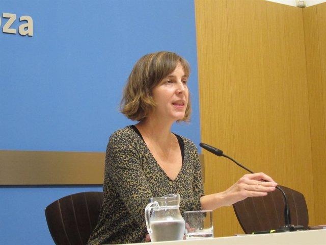 La concejal Teresa Artigas, en rueda de prensa hoy en el Ayuntamiento