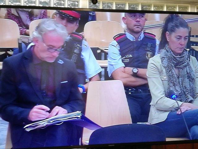 Fernando Blaco y Marga Garaua, en el juicio en la Audiencia de Lleida