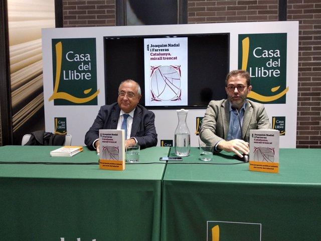 L'exconseller Joaquim Nadal en la presentació del seu llibre