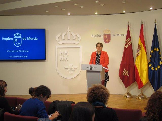 La Portavoz Del Gobierno Regional, Noelia Arroyo, Ern La Rueda De Prensa