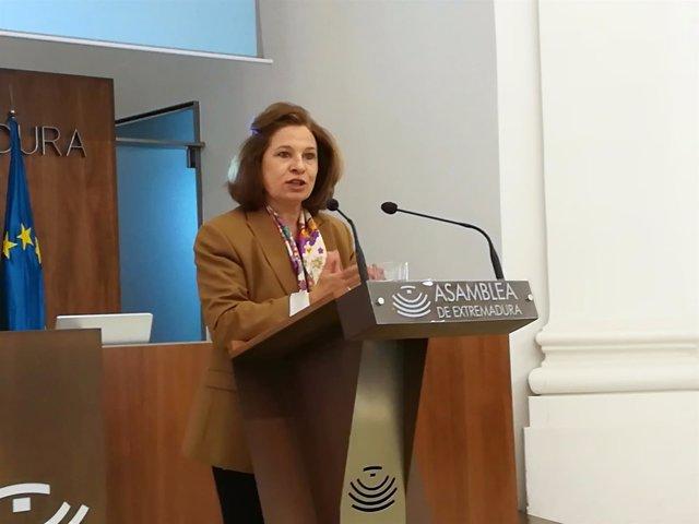 Pilar Blanco-Morales este miércoles en la Asamblea