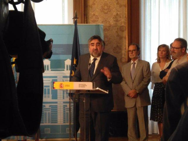 El delegado de Gobierno en Madrid, José Manuel Rodríguez Uribes