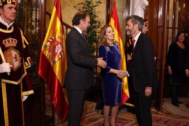 Pío García Escudero, Ana Pastor y Carlos Lesmes