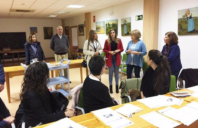 María Márquez visita AFA en Huelva.