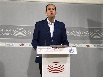 """El PP presentará una enmienda a la totalidad del PGEx porque """"endeuda"""" para """"pagar la campaña"""" y no tiene """"credibilidad"""""""