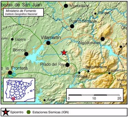 Registrado un segundo terremoto de más de tres grados al noroeste de Prado del Rey (Cádiz)