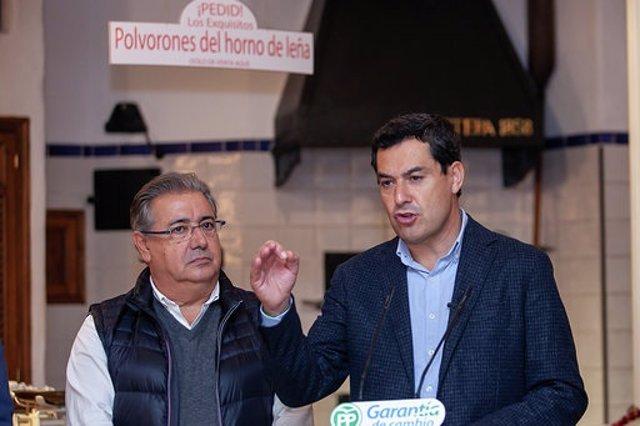 Juanma Moreno y Juan Ignacio Zoido, este miércoles