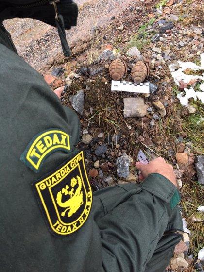 Destruidas dos granadas de mano 'polacas' de la Guerra Civil en Nocedo de Gordón (León)
