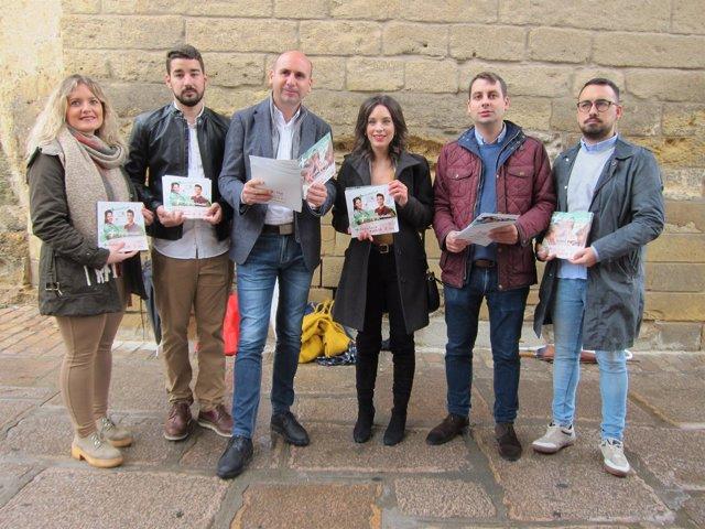 Conejo y López (centro) presentan las campañas de PSOE-A y JSA