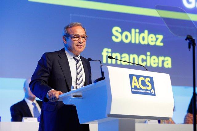El consejero delegado de ACS y Hochtief, Marcelino Ferández Verdes